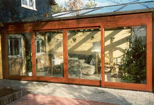 wintergärten aus holz und glas aus der tischlerei - tischlerei,